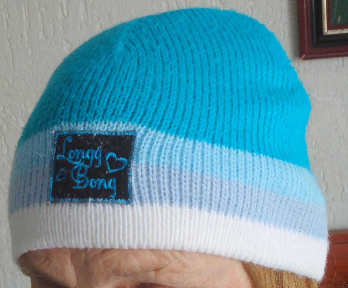 touca gorro em lã tricotada azul e verde. Carregando zoom. 39d6761dd5c