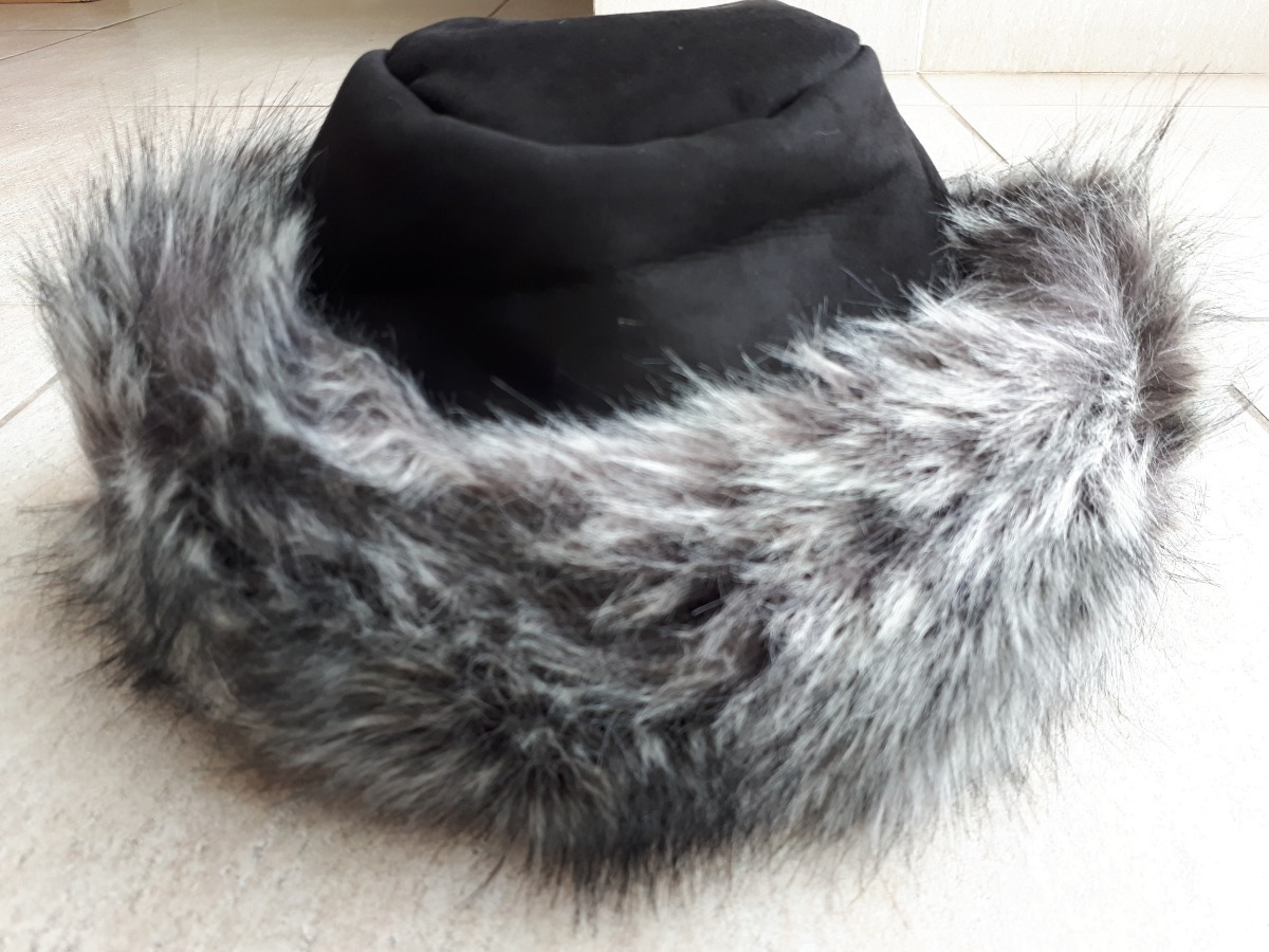 touca gorro feminina com pelo forrada bem quente frio neve. Carregando zoom. 58c5029ee1b