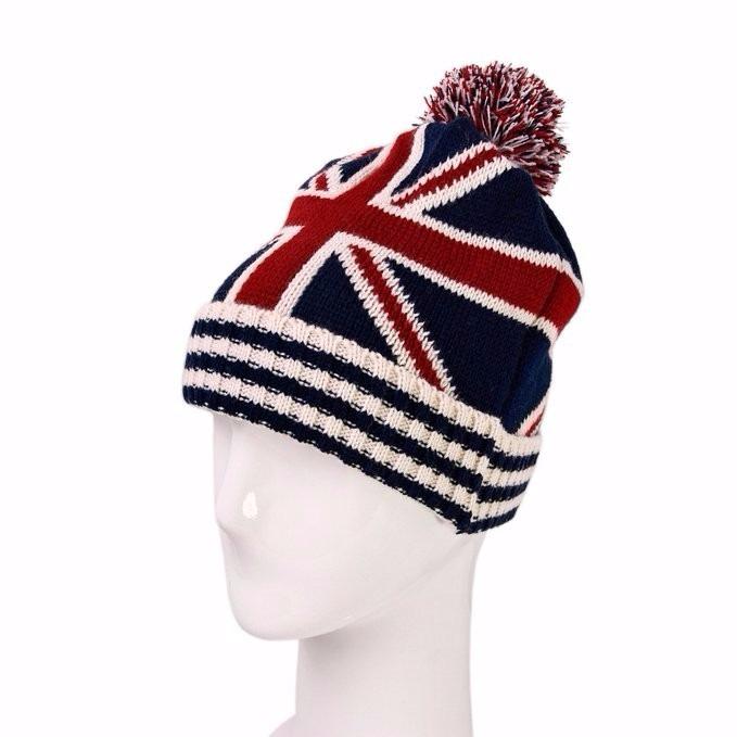 Touca Gorro Infantil Criança Adulto Lã Bandeira Inglaterra - R  47 ... 213b49393e8