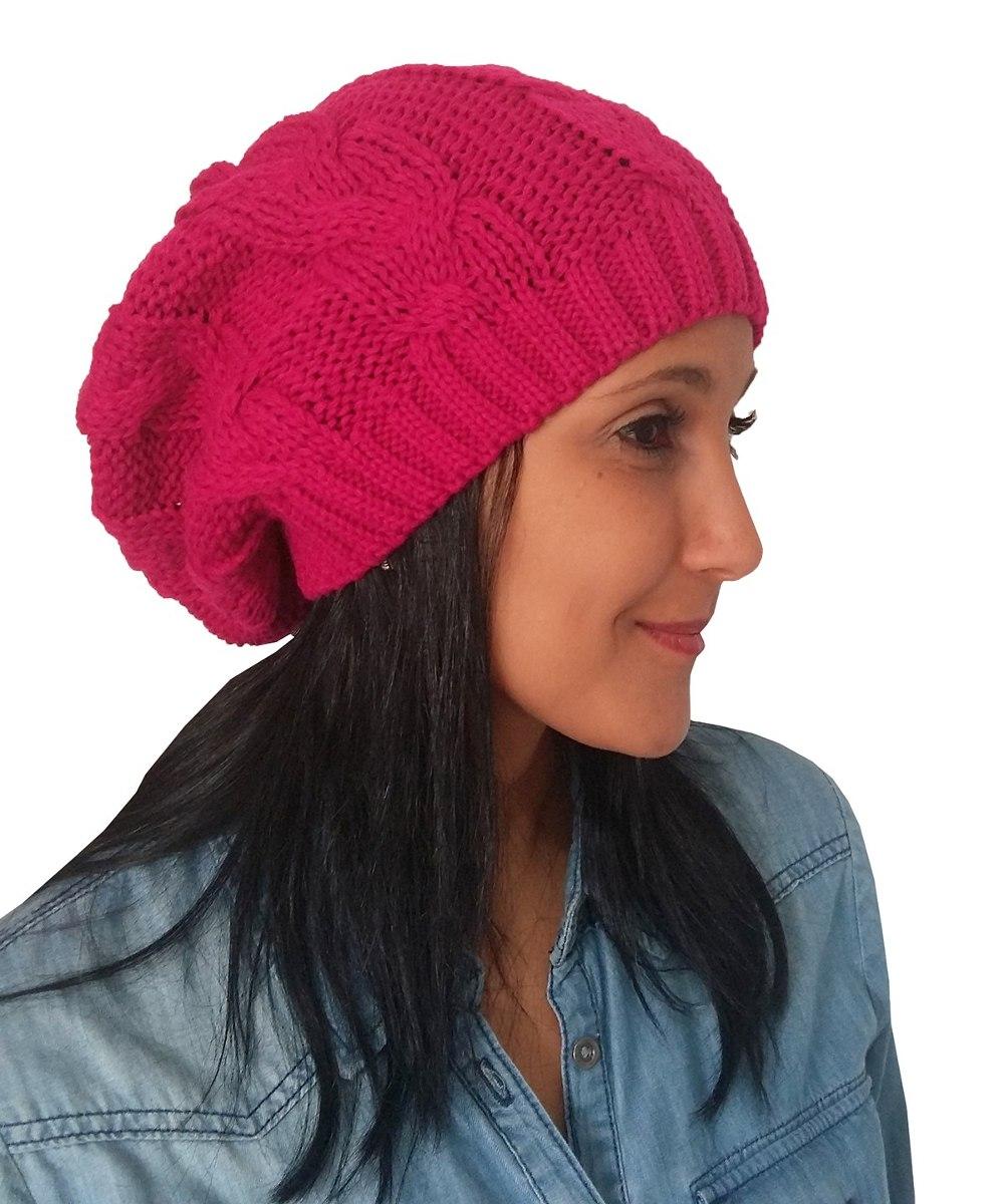 ce28f918351e3 touca gorro lã beanie trançado rosa inverno trico. Carregando zoom.