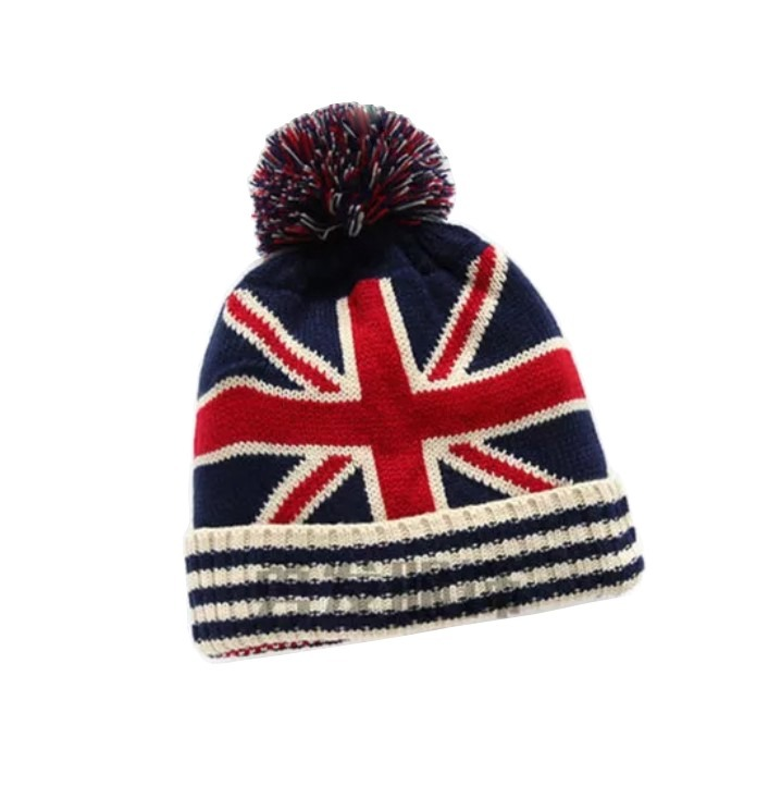 Touca Gorro Lã Com Pom Pom Adulto Infantil Top Inglaterra - R  47 07635339f87