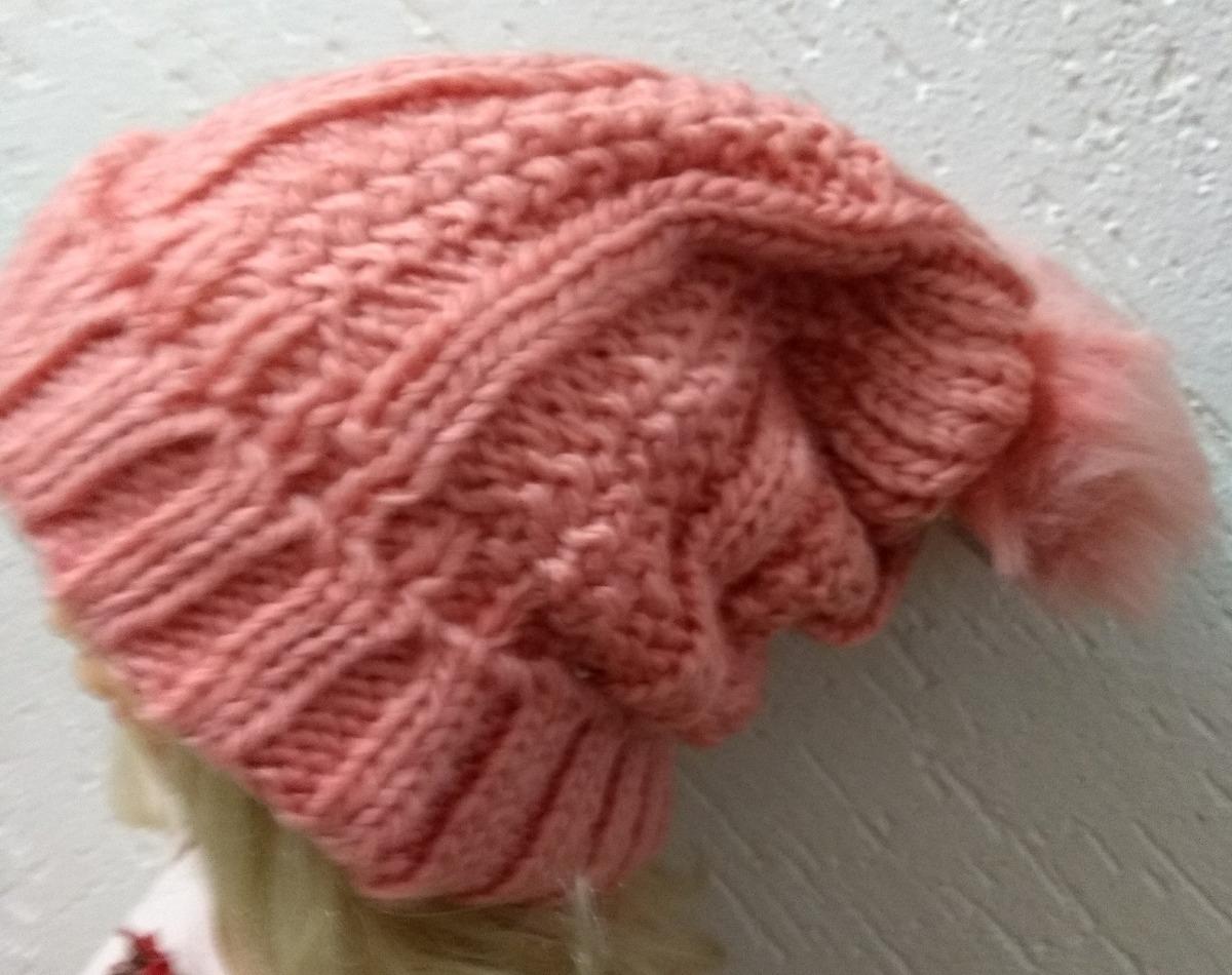 2dc62b52ee6ae touca gorro lã-forrada frio intenso pompom vária cores. Carregando zoom.