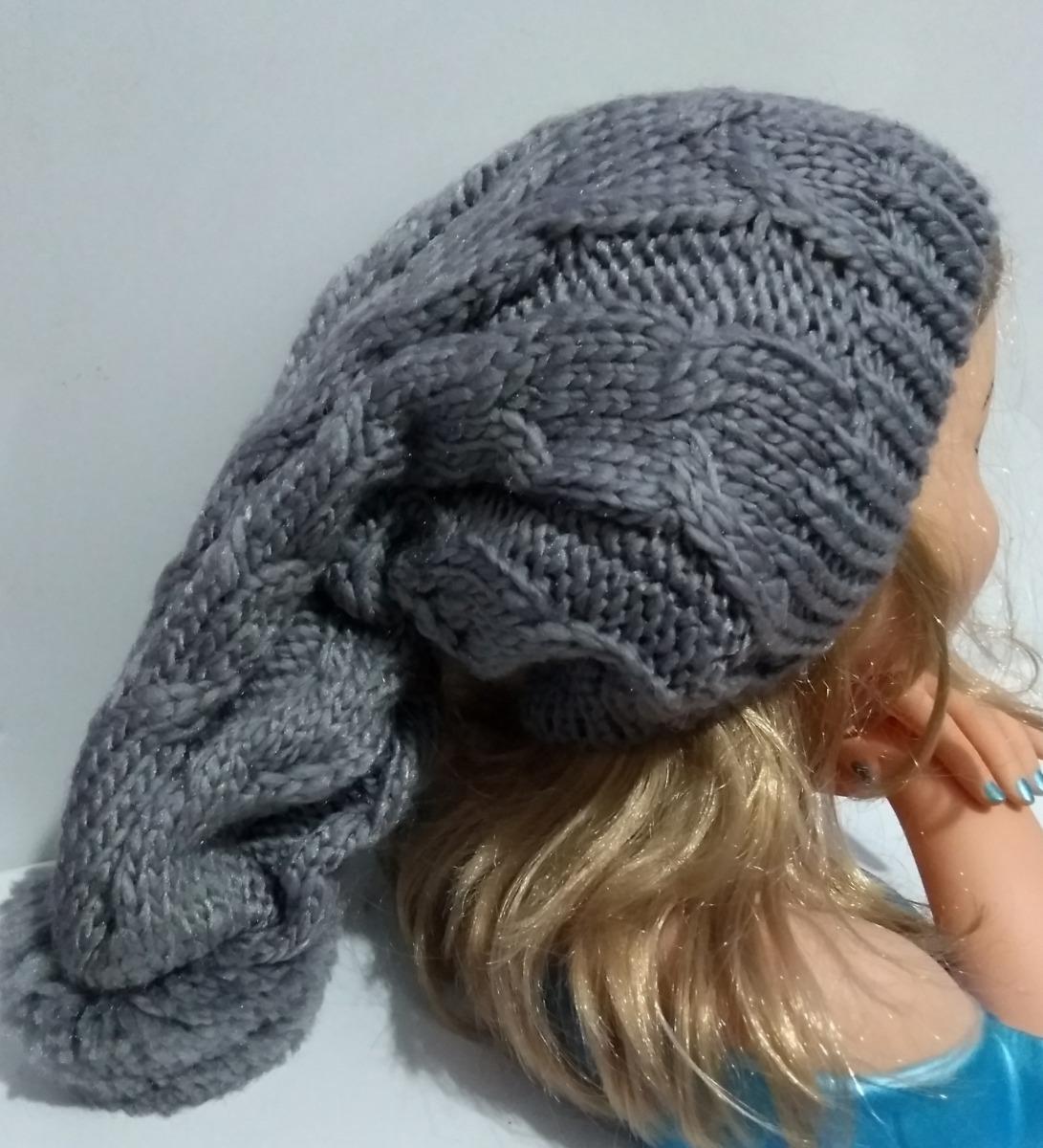 adf18910e8992 touca gorro lã frio feminino masculino trança pompom - cinza. Carregando  zoom.