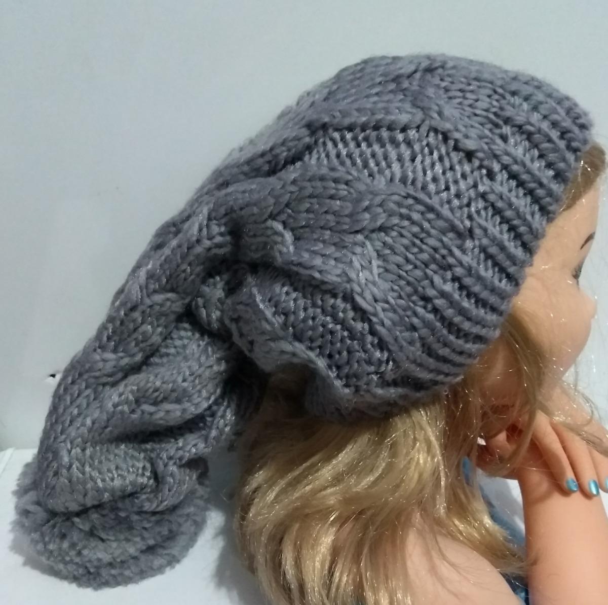 touca gorro lã frio feminino masculino trança pompom - cinza. Carregando  zoom. dd934d4304c