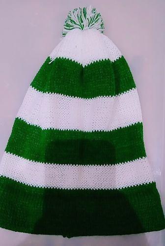 Touca Gorro Listrada Verde E Branca La Palmeiras Futebol - R  20 9ae877f0f3a