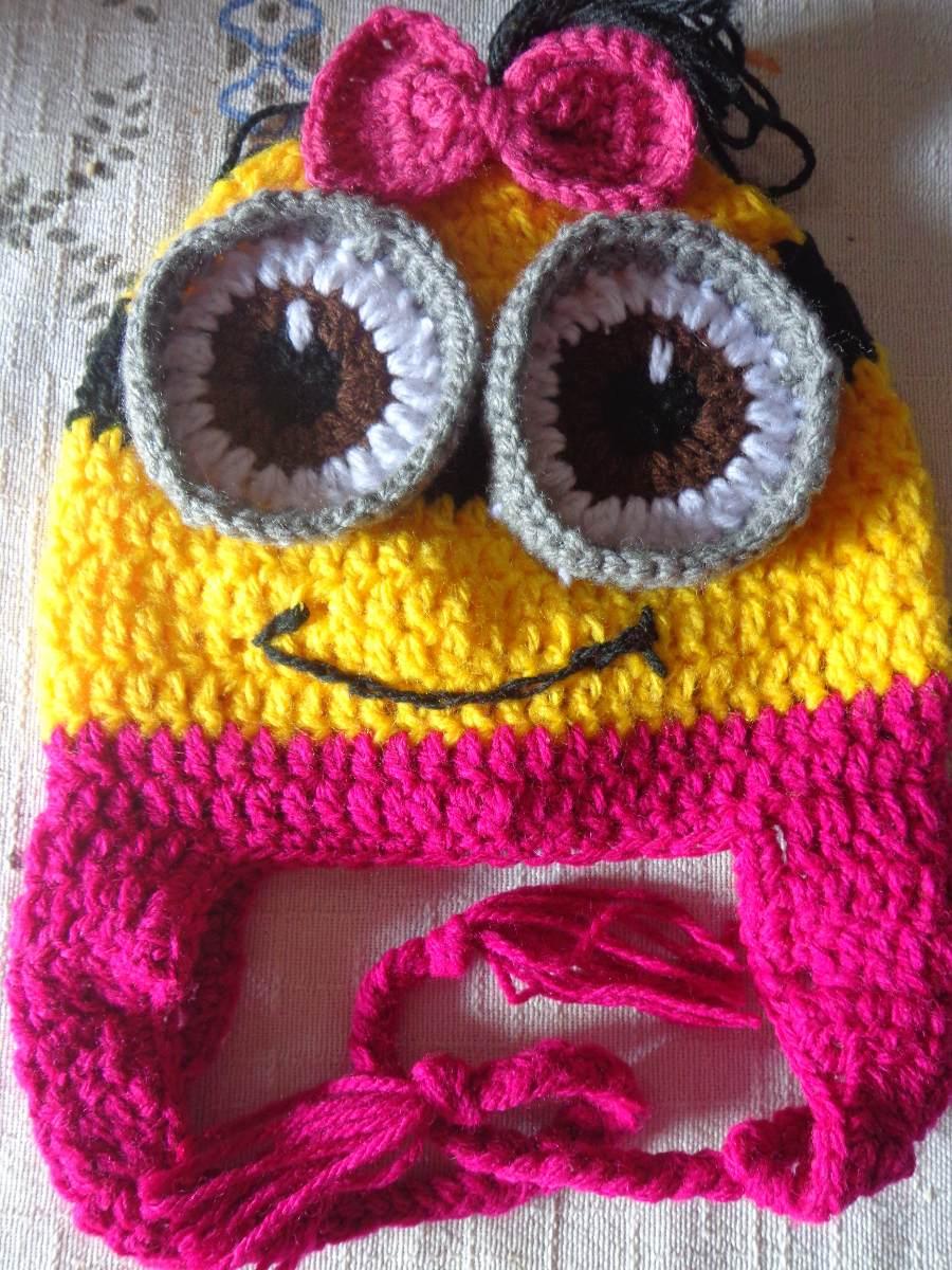 touca gorro minions feminina infantil em crochê de lã. Carregando zoom. a8127067394