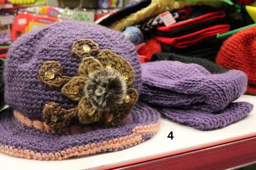 touca gorro pelúcia c/ cachecol la feminina inverno varia co