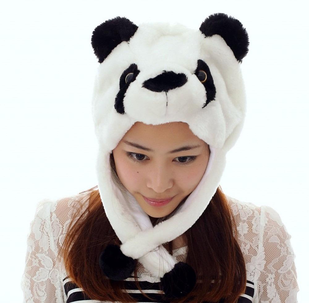 dd01938ed69e3 Touca Gorro Urso Panda Bichinho Pelucia Cosplay Adulto Inft - R  65 ...
