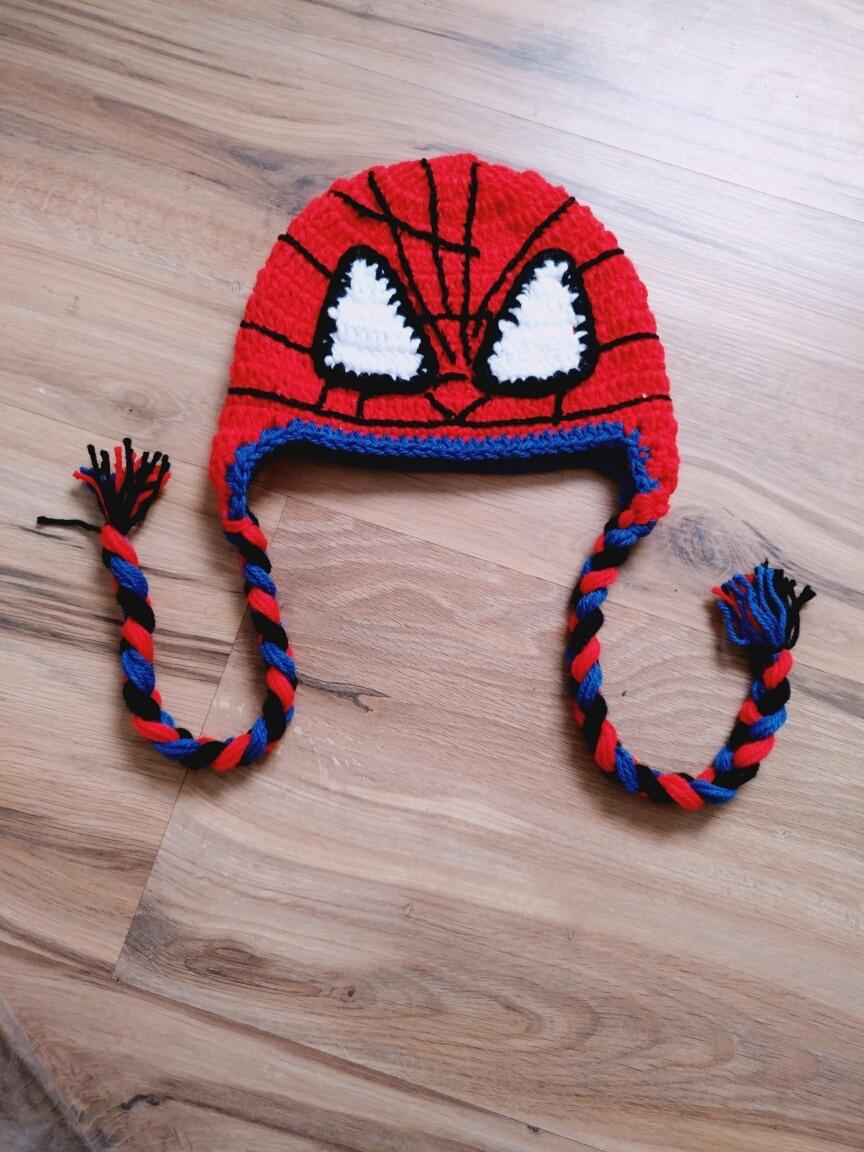 touca homem aranha de crochê. Carregando zoom. 38d07c1befe