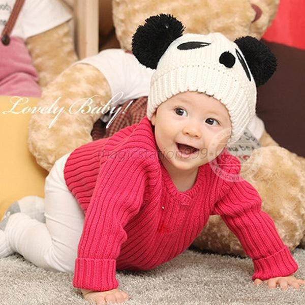 Touca Infantil Panda Unisex Criança Toucas Bebe Gorro Lã - R  79 98ab2612c6f