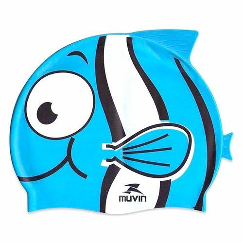 touca natação infantil nemo muvin - nemo azul