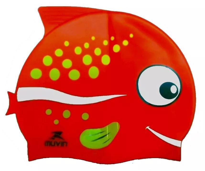 6aeab6ec2 Touca Natação Infantil Nemo Silicone Kids Muvin Peixe - R  21