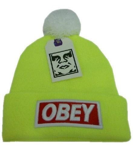 touca obey amarela - pronta entrega - fotos originais