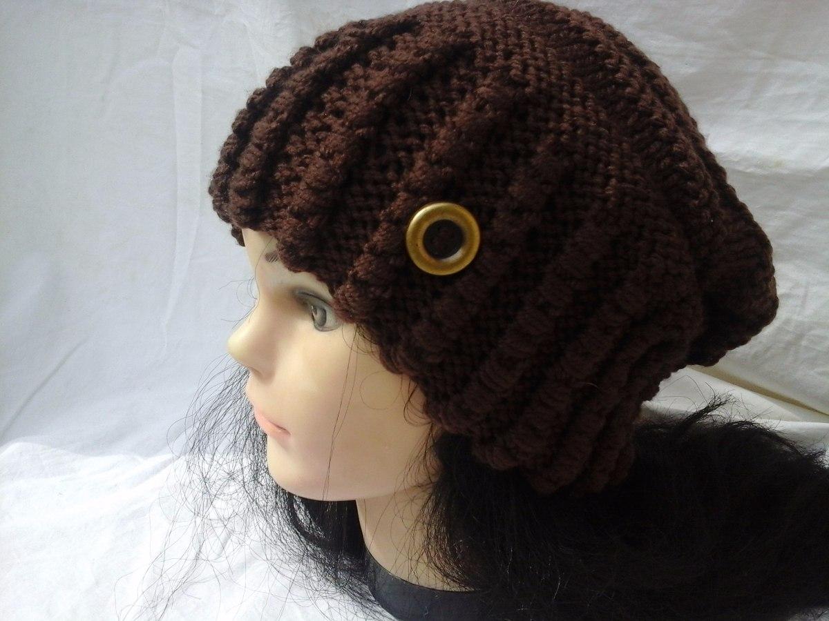 touca ou gorro adulto trico à mão com fio de lã. Carregando zoom. ea599cf4ef7