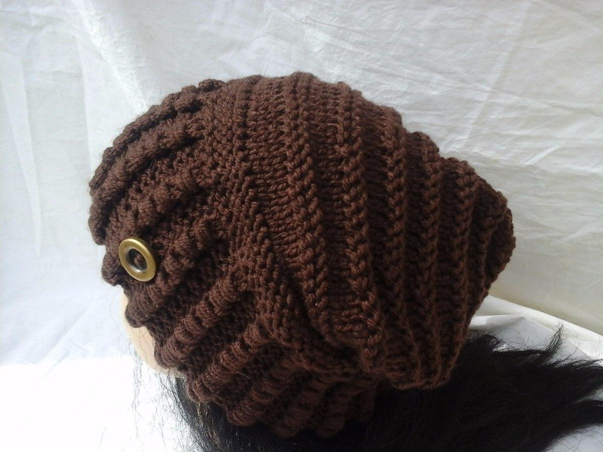 touca ou gorro adulto trico à mão com fio de lã. Carregando zoom. 03e891b6bc1
