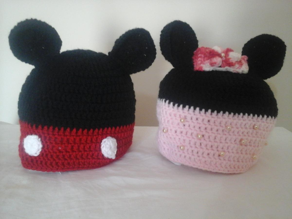 Touca Ou Gorro Infantil Em Crochê Mickey Ou Minnie - R  50 e1f891d21bd