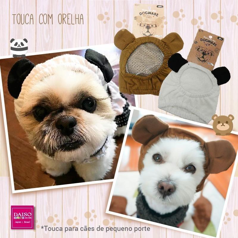 Touca Para Cachorro Com Orelha Pet - R  17 3e3d3f7b760