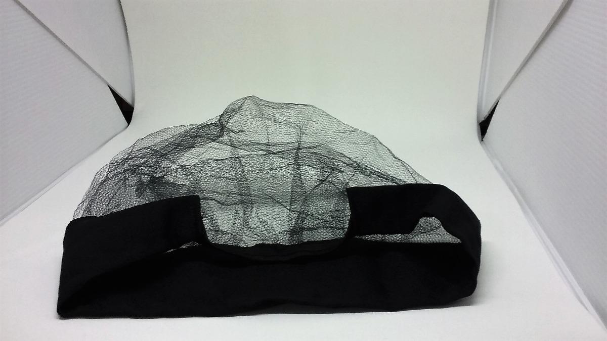 36b6bd4f25417 touca rede c  aba tecido preta - c 01un restaurante uniforme. Carregando  zoom.