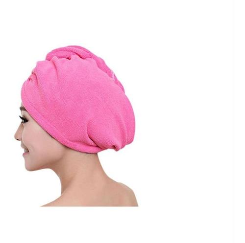 touca toalha para cabelos em microfibra