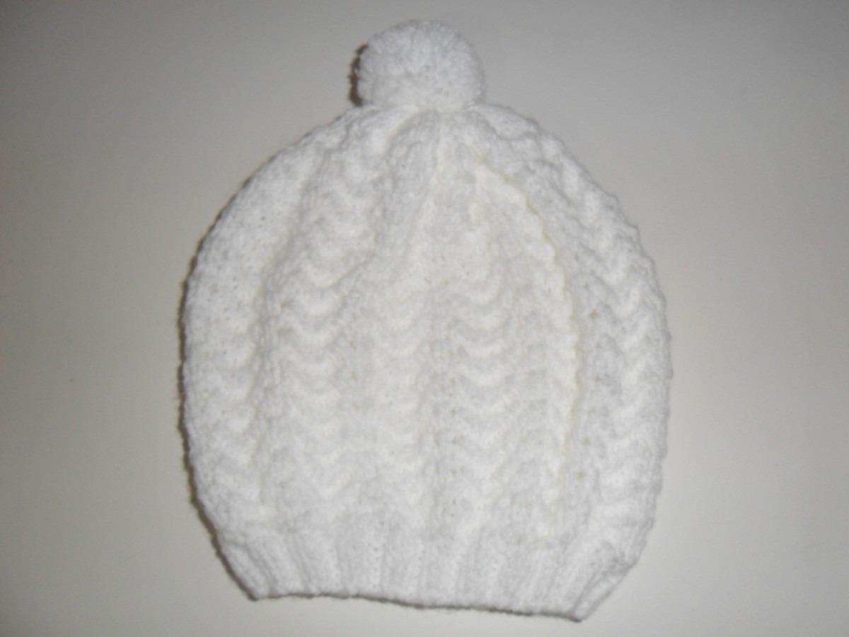 4561e4848bc2d touca tricô para bebe tricot gorro branco. Carregando zoom.