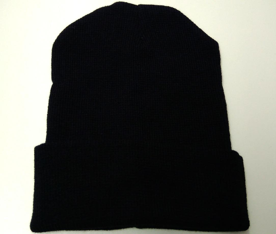 Touca Unissex Básica Lã Acrílica Tricot - Preta - Tamanho U - R  12 ... 341b2aecc0a