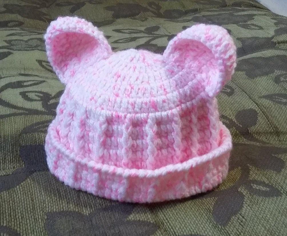 touca gorro ursinho - roupas de bebe croche. Carregando zoom. 70a683d1576