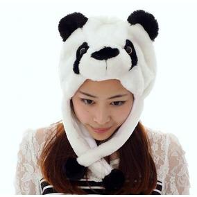 3fa050560cd48 Touca Gorro Urso Panda Bichinho Pelúcia Cosplay Adulto Inft