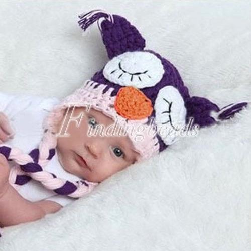 toucas de coruja em crochê - vários modelos - art crochê