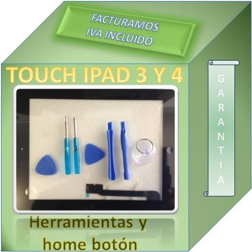 touch  ipad 3 a1416  negro home digitalizador