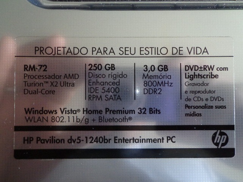 touch-pad hp dv5-1240br