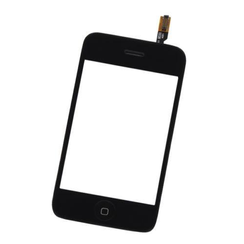 touch screen digitalizador+marco medio para iphone 3g negro