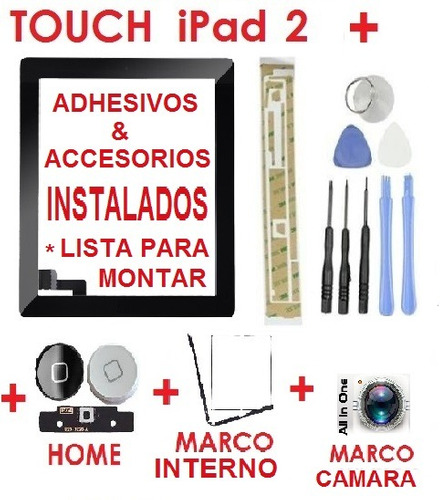 touch screen ipad 2 pantalla de cristal ipad original