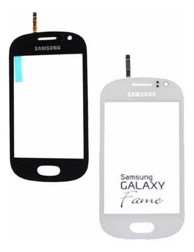 touch screen samsung fame s6810 tactil  vidrio blanco/negro