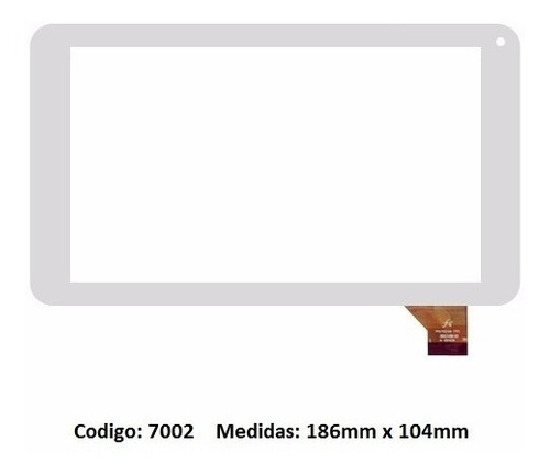 touch tactil vidrio tablet g53 tg702 zj-70065g