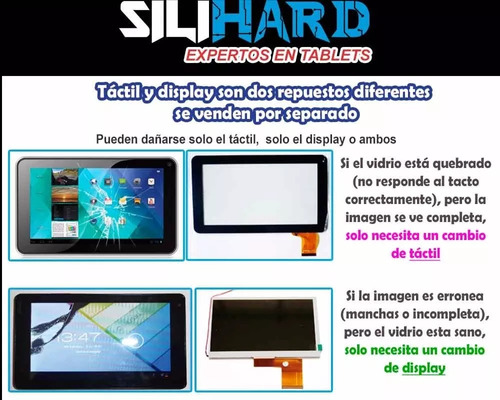 touch vidrio tactil tophouse s7002 / philco tp7a4ha