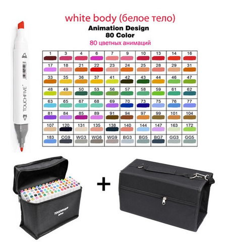 touchfive 80 de color arte marcadores cepillo pluma bosquejo