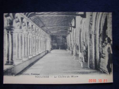 toulouse, francia -  antigua postal.