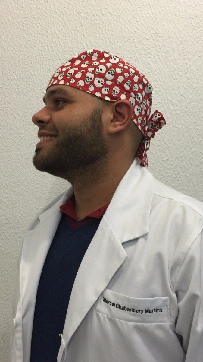 touquinha cirúrgica masculina bandana médico touca caveira. Carregando zoom. c084f3814a5