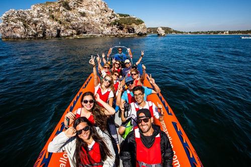 tour en lancha - diez islas de mazatlán