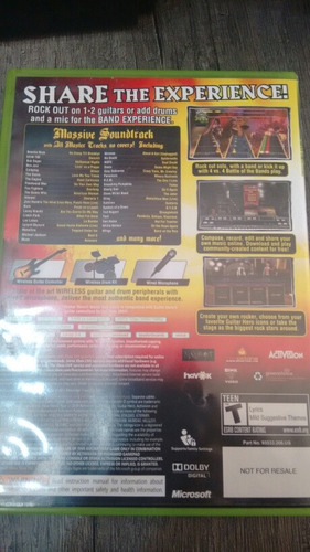 tour xbox 360 guitar hero world