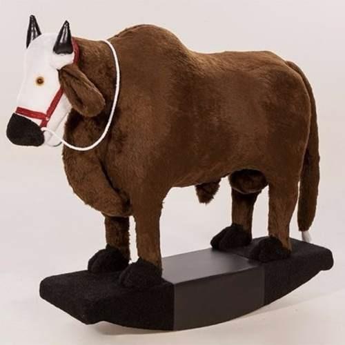 touro, boizinho de balanço revestido em pelúcia, brinquedo