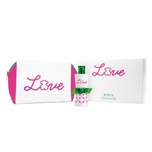 tous perfume love moments para mujer, 90 ml, estuche