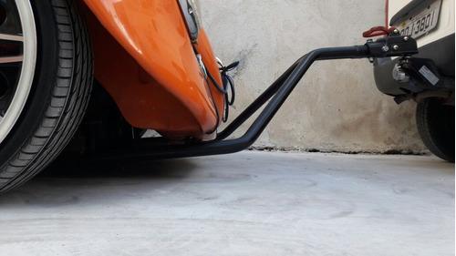 towbar cambão reboque para fusca com kit de elétrica