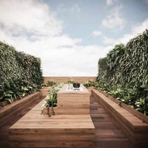 town house con roof garden priv. en antonio sola pre-venta