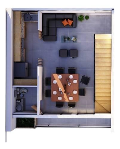 townhouse en renta en montebello completamente amueblado, mérida.