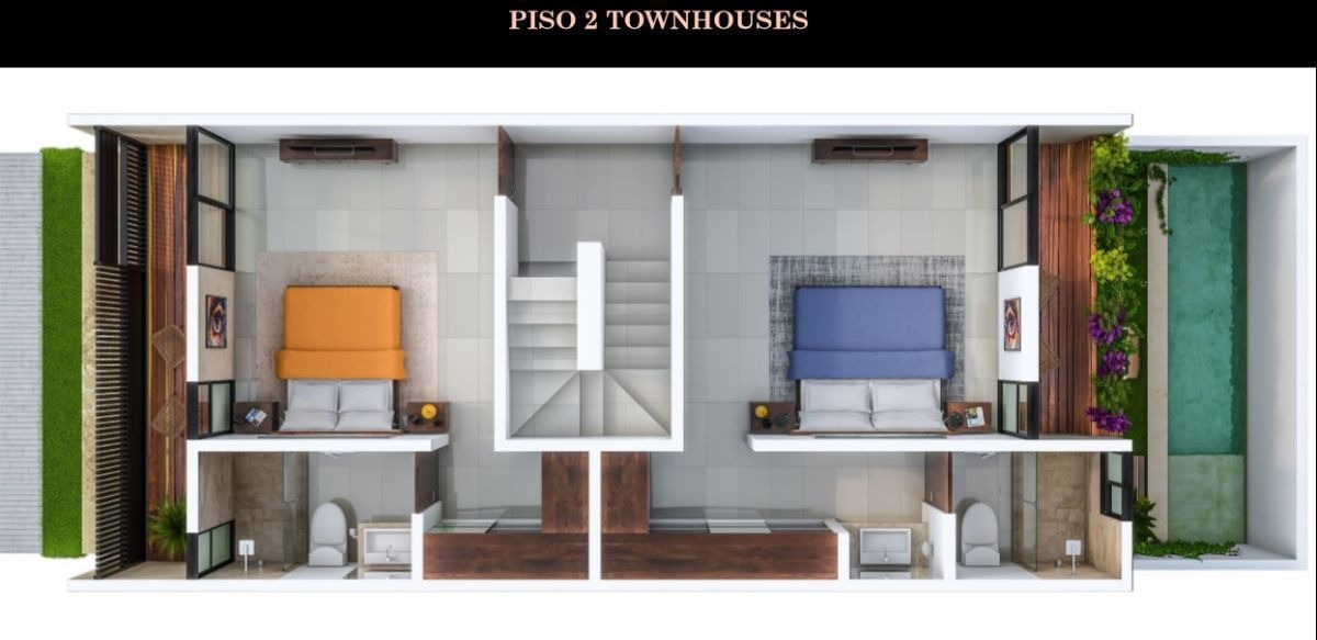 townhouse en venta, en privada sao modelo 200.