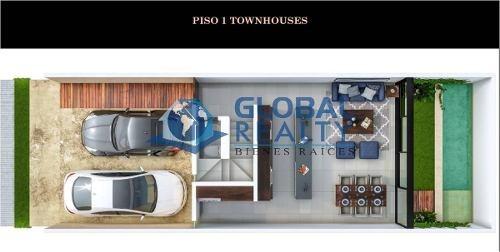 townhouse en venta en privada, temozón norte zona. thv-5007