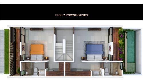 townhouse en venta en privada, temozón, zona norte. thv-5003