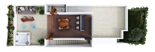 townhouse en venta privada maculi, cholul (mod. 3)