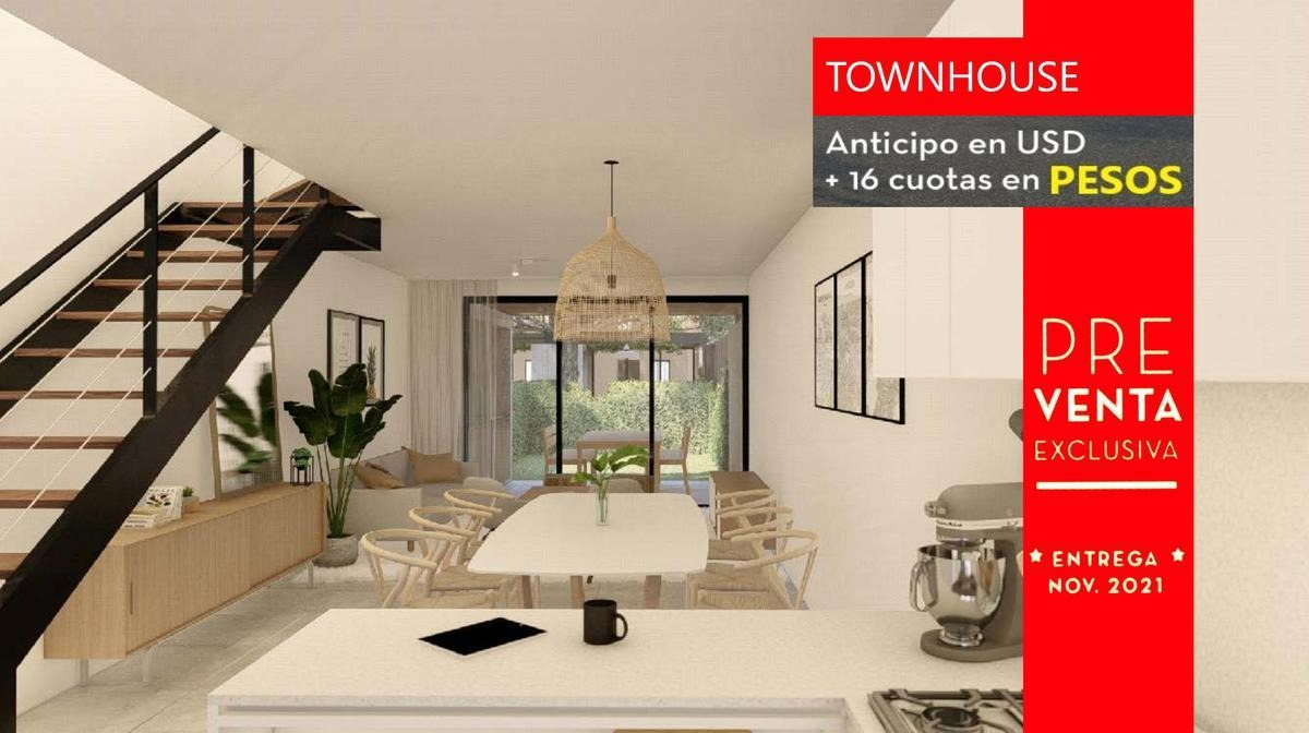 townhouse | en venta | santa  ana joven | proyecto | 2 dormitorios | 3 ambientes | eidicasas | cuotas en pesos | financiación | sin expensas |villa nueva | buen acceso |tigre